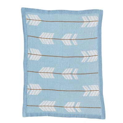 Arrows Knitted Cotton Blanket by Lolli Living