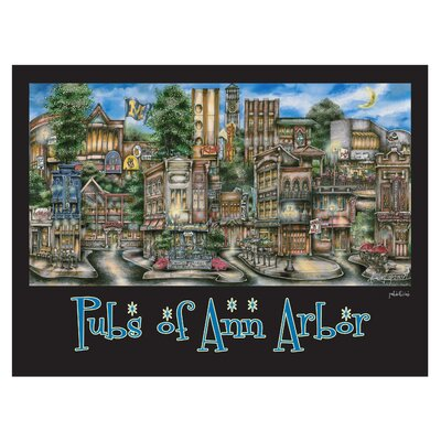 'Ann Arbor, MI' by Brian McKelvey Poster Painting Print by PubsOf