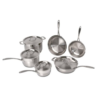 Professional Copper Clad Stainless Steel 10-Piece Cookware Set by BergHOFF