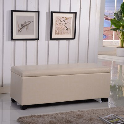Classic Leather Storage Entryway Bench by Bellasario Collection