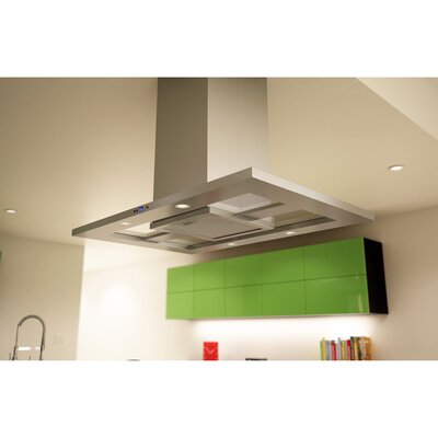 "Essentials Modena 35.44"" 715 CFM Island Range Hood in Stainless Steel Product Photo"