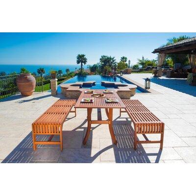 Malibu 3 Piece Dining Set by Vifah