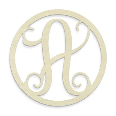 Single Letter Circle Monogram Hanging Initial by Unfinished Wood Co.