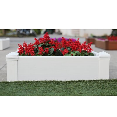 Composite Lumber Square Patio Raised Garden Bed by NewTechWood