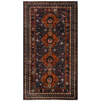 Hand Knotted Wool Brown Area Rug by ZallZo