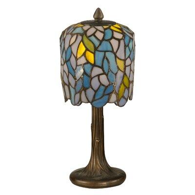 "Dale Tiffany Wisteria Tiffany 13"" H Table Lamp with Novelty Shade"