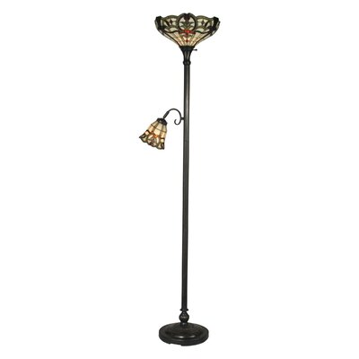 Dale Tiffany 1 Light Torchiere with Side Floor Lamp