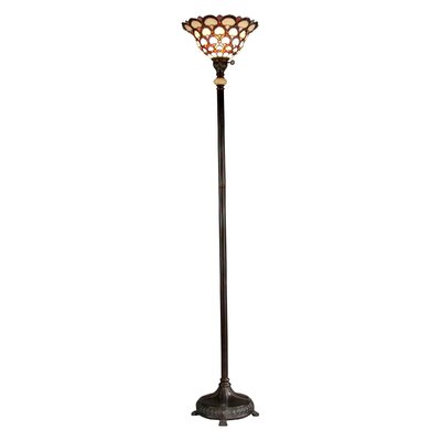dale tiffany peacock tiffany 71 torchiere floor lamp reviews. Black Bedroom Furniture Sets. Home Design Ideas