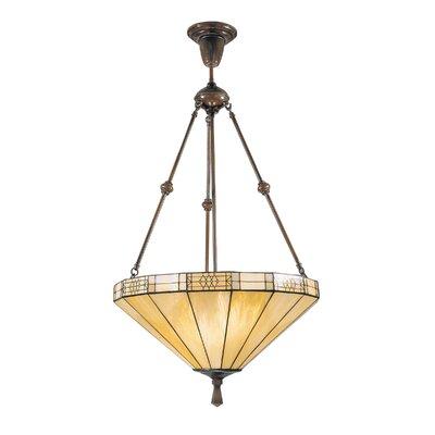 Dale Tiffany Umbrella Filigree 3 Light Inverted Pendant
