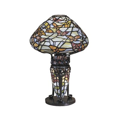 """Dale Tiffany Papillion 14"""" H Table Lamp with Novelty Shade"""