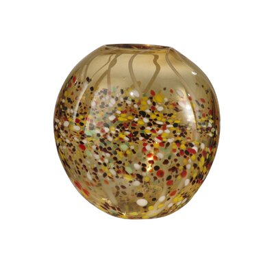 Amber Speckle Broad Vase by Dale Tiffany