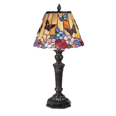 dale tiffany butterfly peony tiffany 24 h table lamp with empire. Black Bedroom Furniture Sets. Home Design Ideas