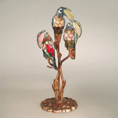 "Dale Tiffany Port Douglas Parrot 23.5"" H Table Lamp with Novelty Shade"