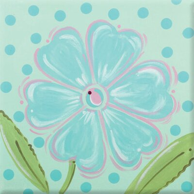 Daisy Imagination Square Aqua Canvas Art by Renditions by Reesa