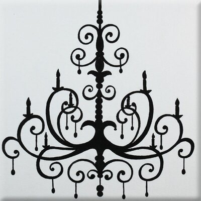 Chandelier Imagination Square Black Canvas Art by Renditions by Reesa