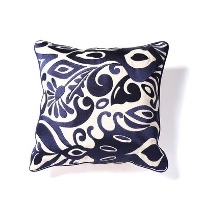 Citadel I Embroidered Linen Throw Pillow by KD Spain