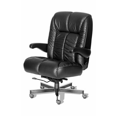 Comfort Plus+ Series Newport Ultra Leather/Leathermate Vinyl High-Back Executive Chair by ERA ...