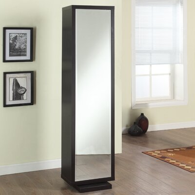 usa home deluxe mirror and swivel floor cabinet reviews wayfair