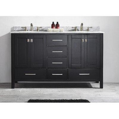 """Gela 60"""" Double Bathroom Vanity Set Product Photo"""