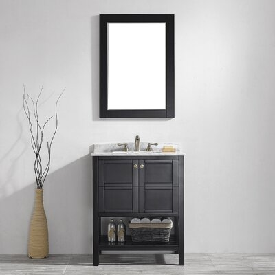 "Florence 30"" Single Vanity Set with Mirror Product Photo"