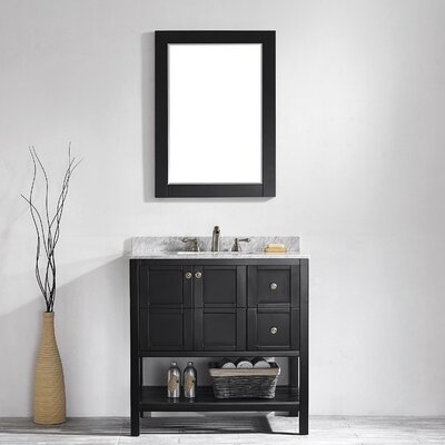 "Florence 36"" Single Vanity Set with Mirror Product Photo"