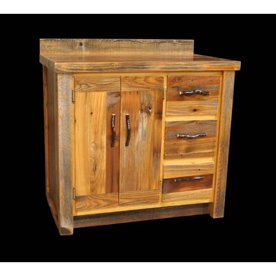 "Barnwood 36"" Bathroom Vanity Product Photo"