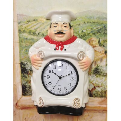 Bistro Fat Chef Hanging / Wall Clock by A.C.K. Trading Co.