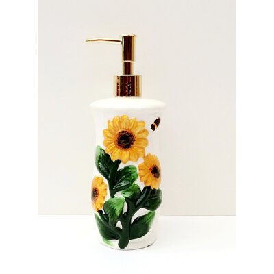 Tuscany 3D Sunflower Soap Dispenser by A.C.K. Trading Co.