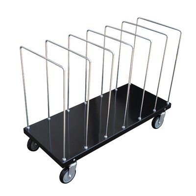 Portable Carton Cart with Dividers by Vestil
