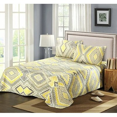 Modern Summer Diamond Bedspread set by Tache Home Fashion