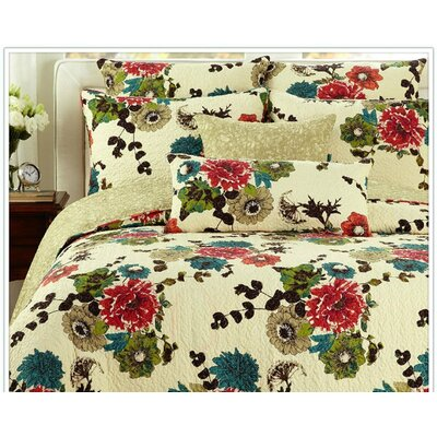Spring Country Garden Bedspread Set by Tache Home Fashion