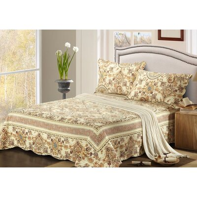 Summer Royal Medallion Bedspread Set by Tache Home Fashion