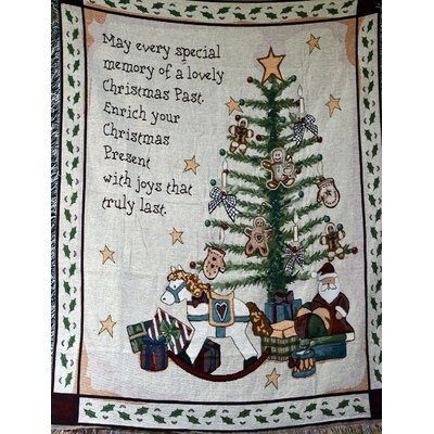 Christmas Morning Tapestry Throw Blanket by Tache Home Fashion