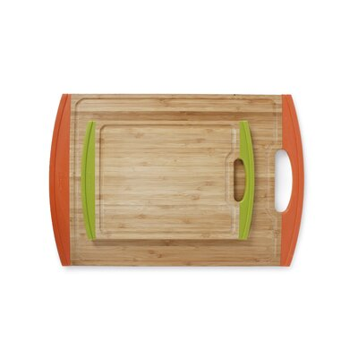 Lusso 2 Piece Bamboo Cutting Board with Non Slip Edges by Neoflam