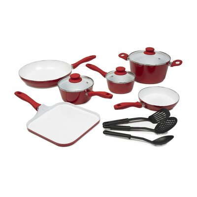 Nonstick Ceramic 12-Piece Cookware Set by Victoria