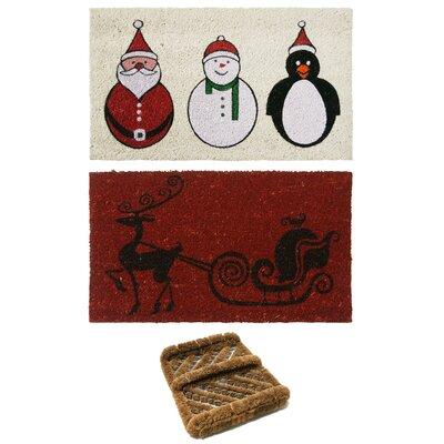 3 Piece Christmas Doormat Set by Rubber-Cal, Inc.