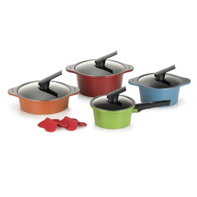 10 Piece Pot Set with Lids by Happycall