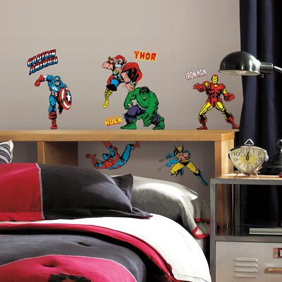 Marvel Comics Classics Wall Decal by Wallhogs