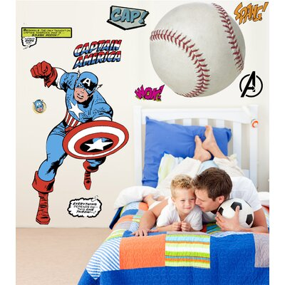 Marvel Comics Captain America Classic Wall Decal by Wallhogs
