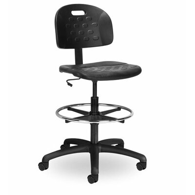 Indy Height Adjustable Drafting Chair with Chrome Foot Ring by Seating Inc