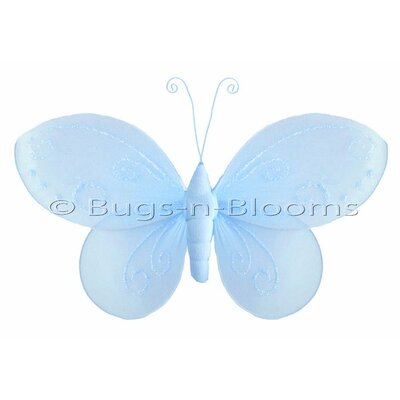 Butterfly Hanging Nylon 3D Wall Decor by Bugs-n-Blooms