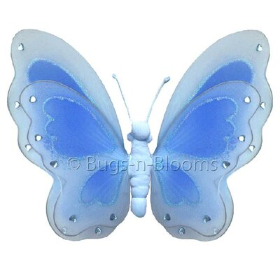 Butterfly Hanging Painted Nylon 3D Wall Decor by Bugs-n-Blooms