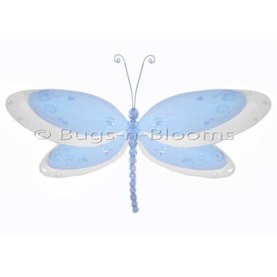 Dragonfly Hanging Sparkle Nylon 3D Wall Decor by Bugs-n-Blooms