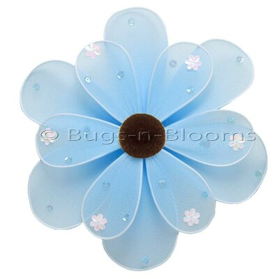 Flower Hanging Sequined Nylon 3D Wall Decor by Bugs-n-Blooms