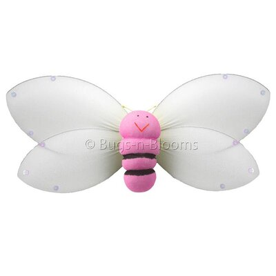 Bumblebee Hanging Smiling Nylon 3D Wall Decor by Bugs-n-Blooms