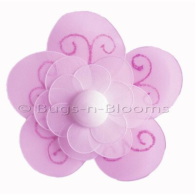 Flower Hanging Shimmer Nylon 3D Wall Decor by Bugs-n-Blooms
