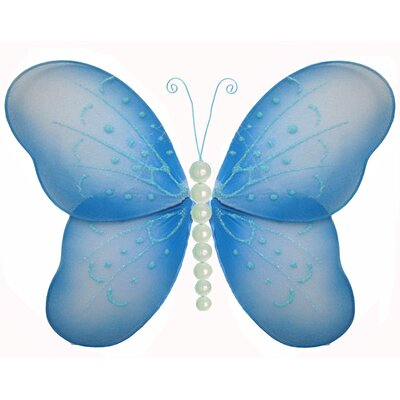 Butterfly Hanging Pearl Nylon 3D Wall Decor by Bugs-n-Blooms