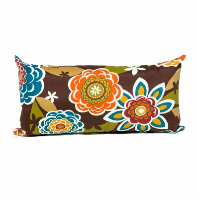 Retro Floral Outdoor Throw Pillows Rectangle 11x22 (Set of 2) by TK Classics
