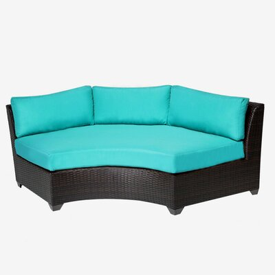 Barbados Curved Armless Sofa with Cushions by TK Classics