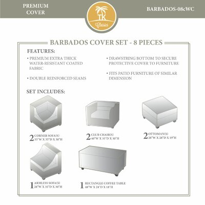 Barbados 8 Piece Winter Cover Set by TK Classics
